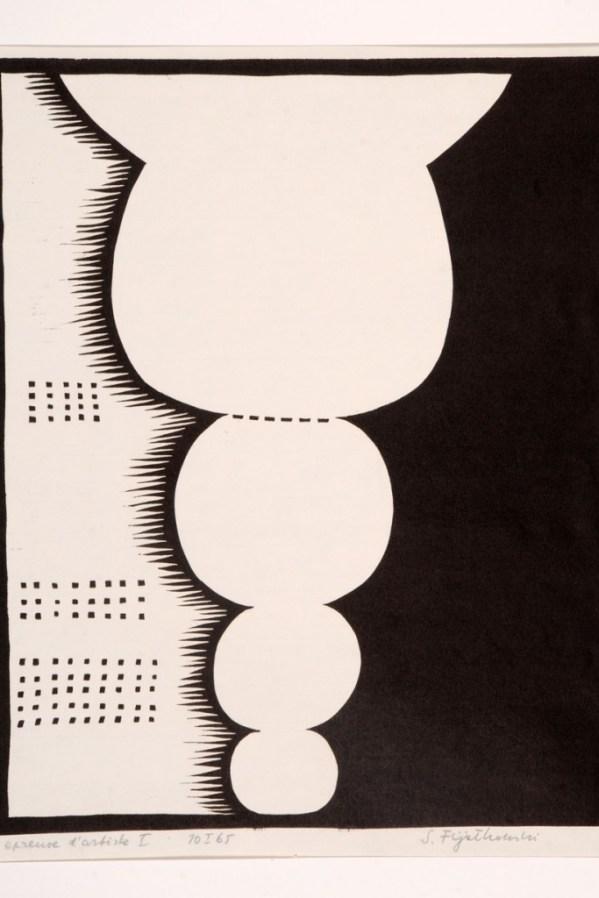 Stanisław Fijałkowski, 10.I.65, 1965, linocut, 62,5 x 48,6 cm, courtesy the artist and Embassy of Poland in Skopje