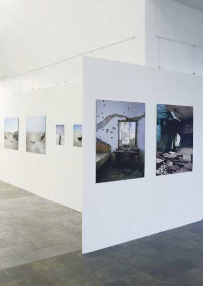 Wawrzyniec Kolbusz, Sacred Defense, exhibition view: 'Sacred Defense' at the University of Derby in Derby, FORMAT International Photography Festival 2015, photo Wawrzyniec Kolbusz