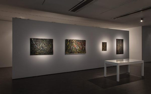 Gustav Metzger, Exhibition view in the Centre of Contemporary Art Znaki Czasu in Toruń, 2015, photo Wojciech Olech