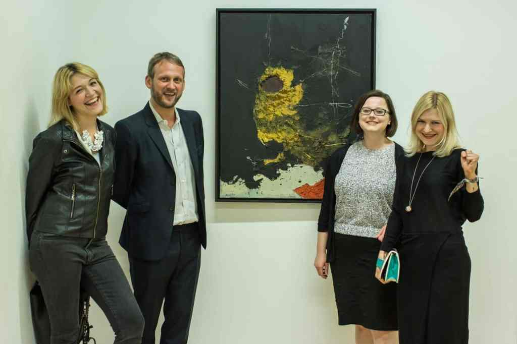 left: Karolina Kolodziej, Marc Glöde, Anna Godlewska, Anna Gruszka, preview of the exhibition 'Tadeusz Kantor: Inbetween Structures', Summerhall, Edinburgh, photo ⓒChris Scott, courtesy of Polish Cultural Institute in London, 2015