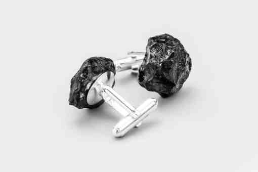 Cufflinks - Silver and Hard Coal Jewellery by bro.Kat studio
