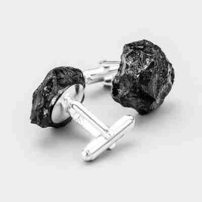 Cufflinks - Silver and Hard Coal Jewellery by bro.Kat studio