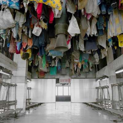 """Darek Fortas """"Changing Room II"""", from the series """"Changing Rooms"""" (2011-2013), C-Type Print, 40 x 50 cm, edition of 100 + 2AP."""