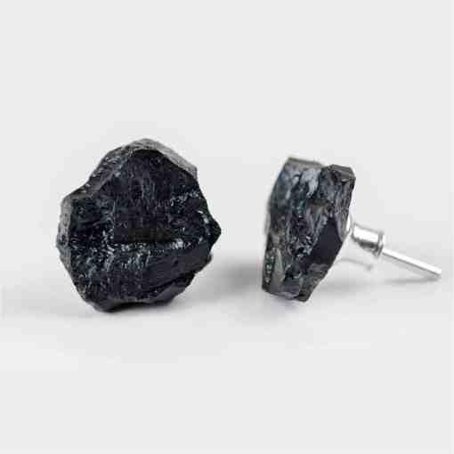 Earrings - Silver and Hard Coal Jewellery