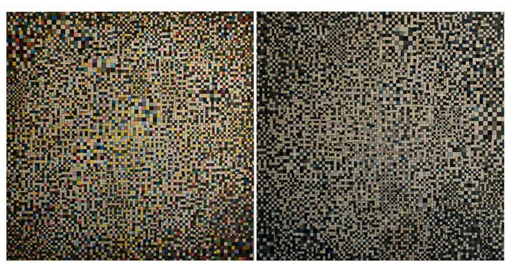 Mateusz Szczypiński, Devotio Moderna I and II, 2012, each: 55 x 55 cm, courtesy the artist and lokal_30