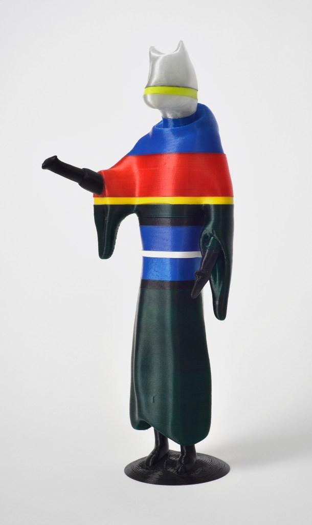 Janek Simon, Cynocephali, 3D printed sculpture, 10×10×50cm, 2015