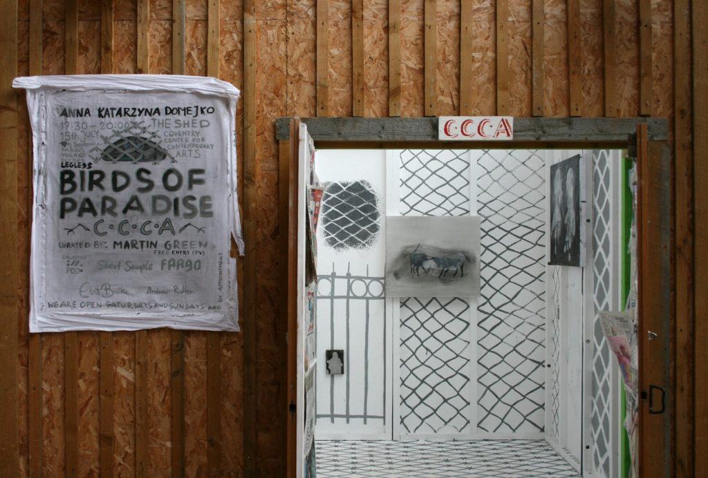 Anna Katarzyna Domejko Legless Birds of Paradise, doors 2016, CCCA.