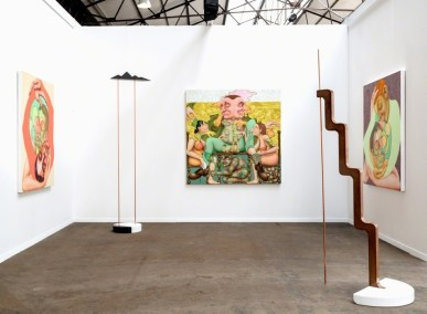 Installation view of Shulamit Nazarian's booth at Art Brussels, 2017, Courtesy of Shulamit Nazarian