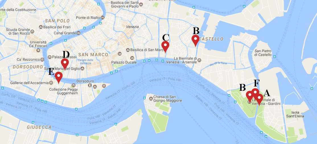 A Contemporary Lynx's Subjective Guide Following The Tracks Of: Venice Biennale 2017 Map At Infoasik.co