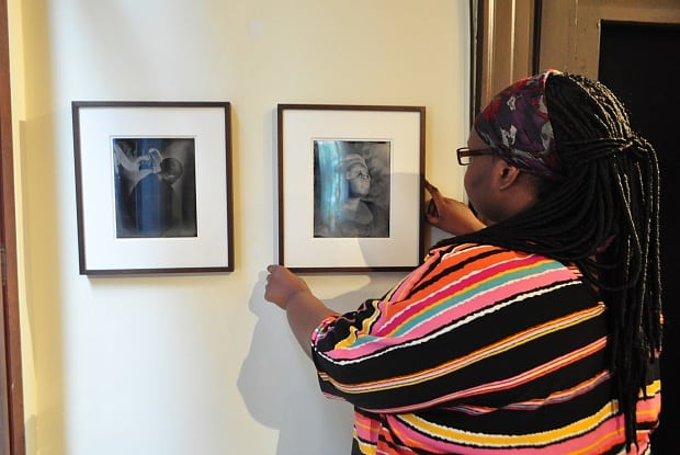 Khadija Saye positioning her work Dwelling: in this space we breathe (2017)