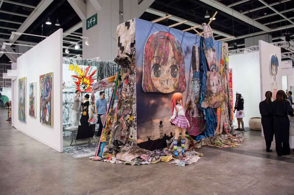 Kaikai Kiki Gallery at Art Basel Hong Kong 2017. Photo courtesy of Art Basel.