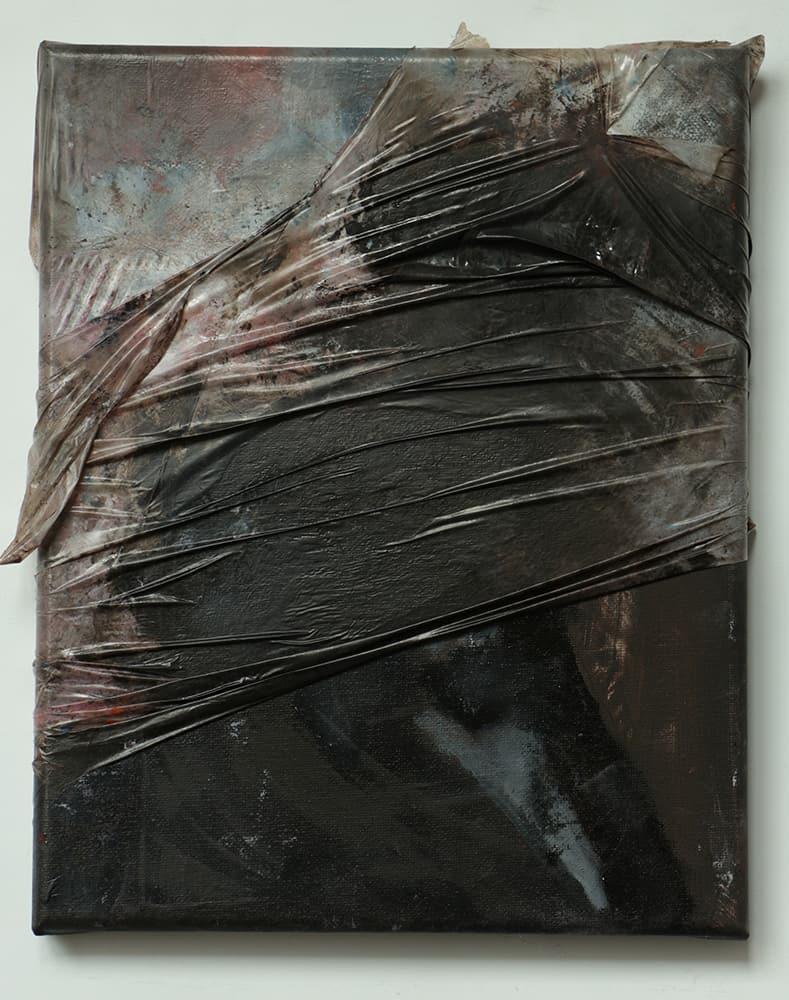 Paweł Baśnik, H.E. 1871-1913, oil painting on canvas and foil , 30x24cm, 2017