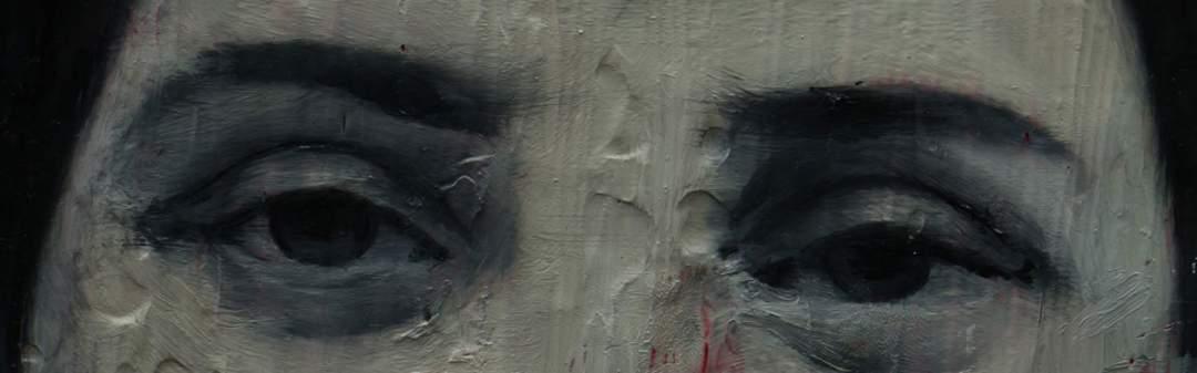 Paweł Baśnik, M.N. 1968-1992 (detail), oil and acril painting on canvas, 30x24cm, 2017