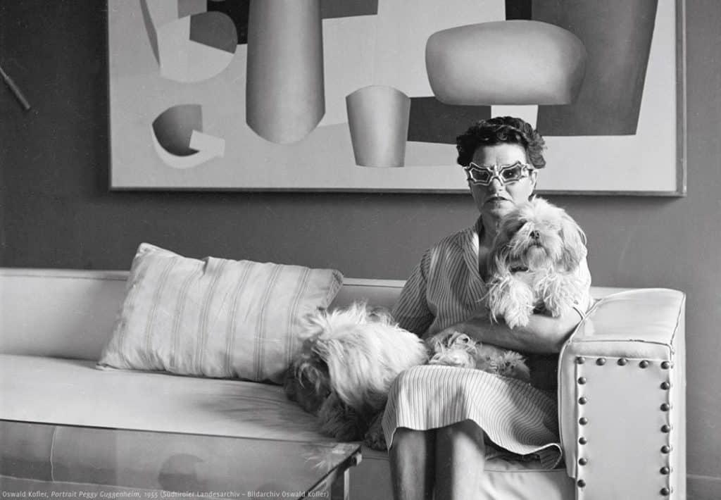 Portrait of Peggy Guggenheim, 1955Courtesy of Südtiroler Landesarchive, Bildarchive Oswald Kofler