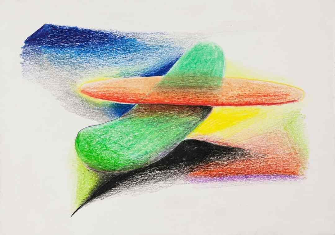 Cucumber in a Sombrero, coloured pencils, paper, 2016