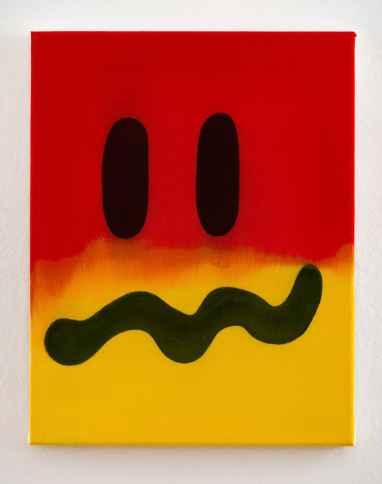 David Krňanský, z serii Facedetectedpainting, olej i akryl na płótnie, 45 x 35 cm, 2017, dzięki uprzejmości artysty i galerii Leto