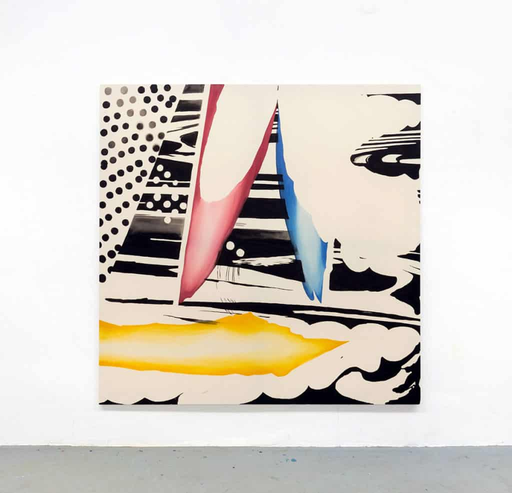 Piotr Makowski, Kompozycja NM 06, 2017, inks on canvas, 200 x 200 cm, unique, courtesy the Artist and Antoine Levi, Paris