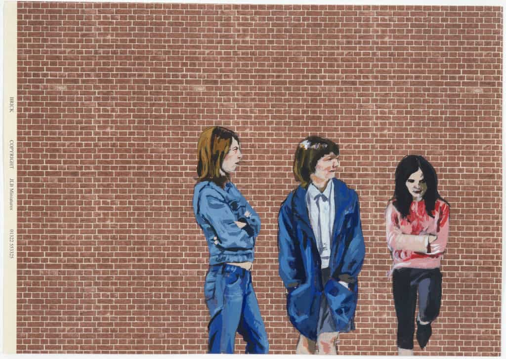 Lucy McKenzie, Untitled (Bi-Curious), 2004. Acrylic on paper. 33.3 x 43.3 x 2.5 cm. © Lucy McKenzie. Collection Stedelijk Museum Amsterdam, donation Thomas Borgmann, Berlin