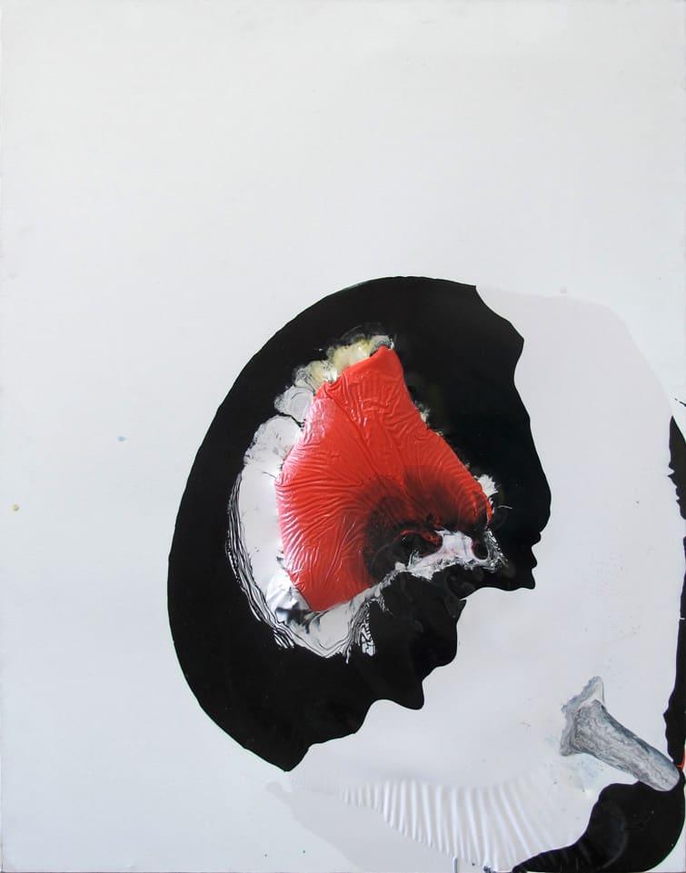 Iza Chamczyk, Petite mort, alkyd, nitro painting, 100x80cm, 2016