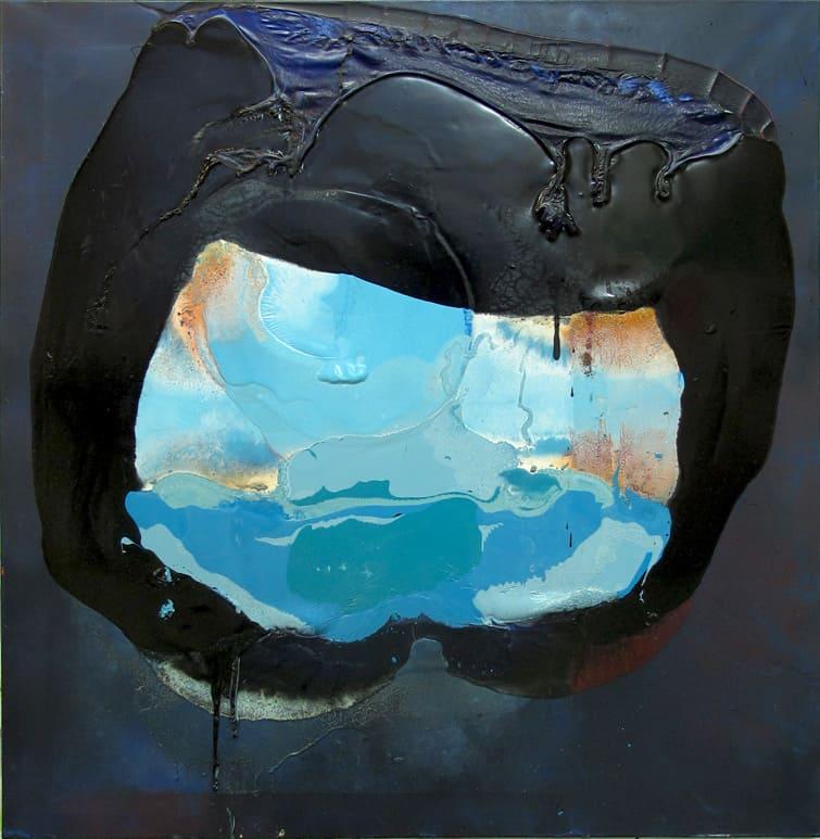 Iza Chamczyk, Liebestod, alkidy, nitro painting on canvas, 114x111cm. 2016