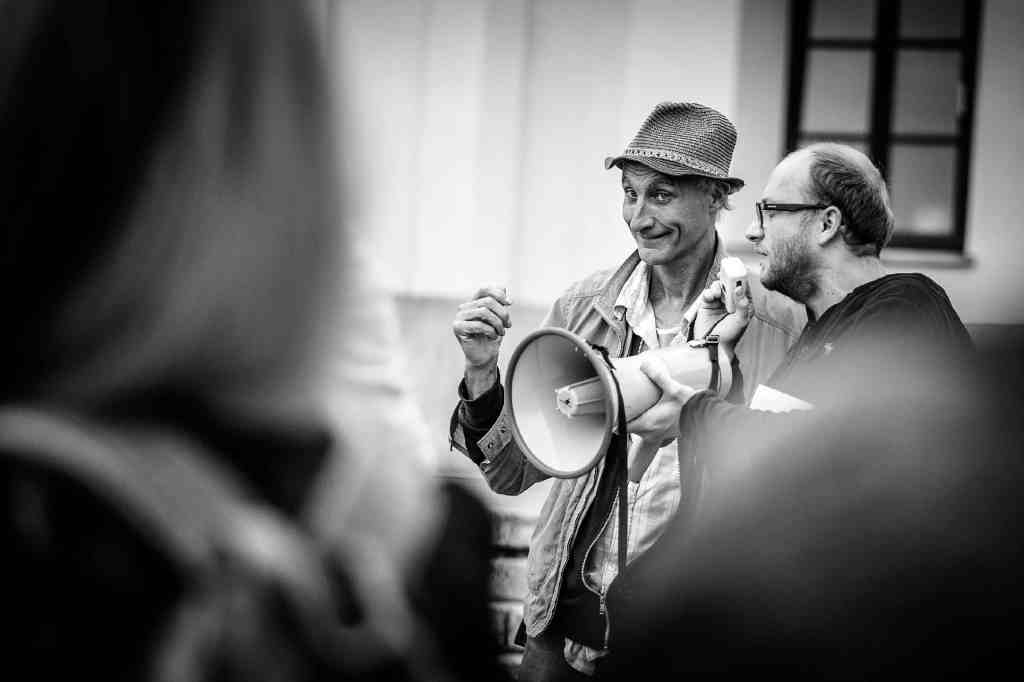 Henk Visch (in the hat), 10 Festival of Art in Public Spaces, Open City, Lublin