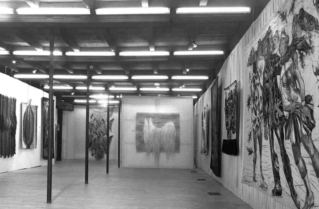 The first edition of the International Tapestry Triennial, Łódź 1975.