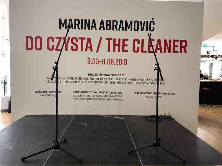 "Marina Abramović, ""The Cleaner"" exhibition"
