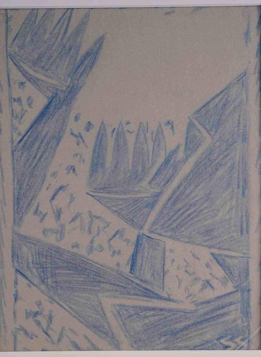 Stefan Szmaj, Prayer to the Sun / Profile, Linocut, paper; 25,1 x 18,3 cm
