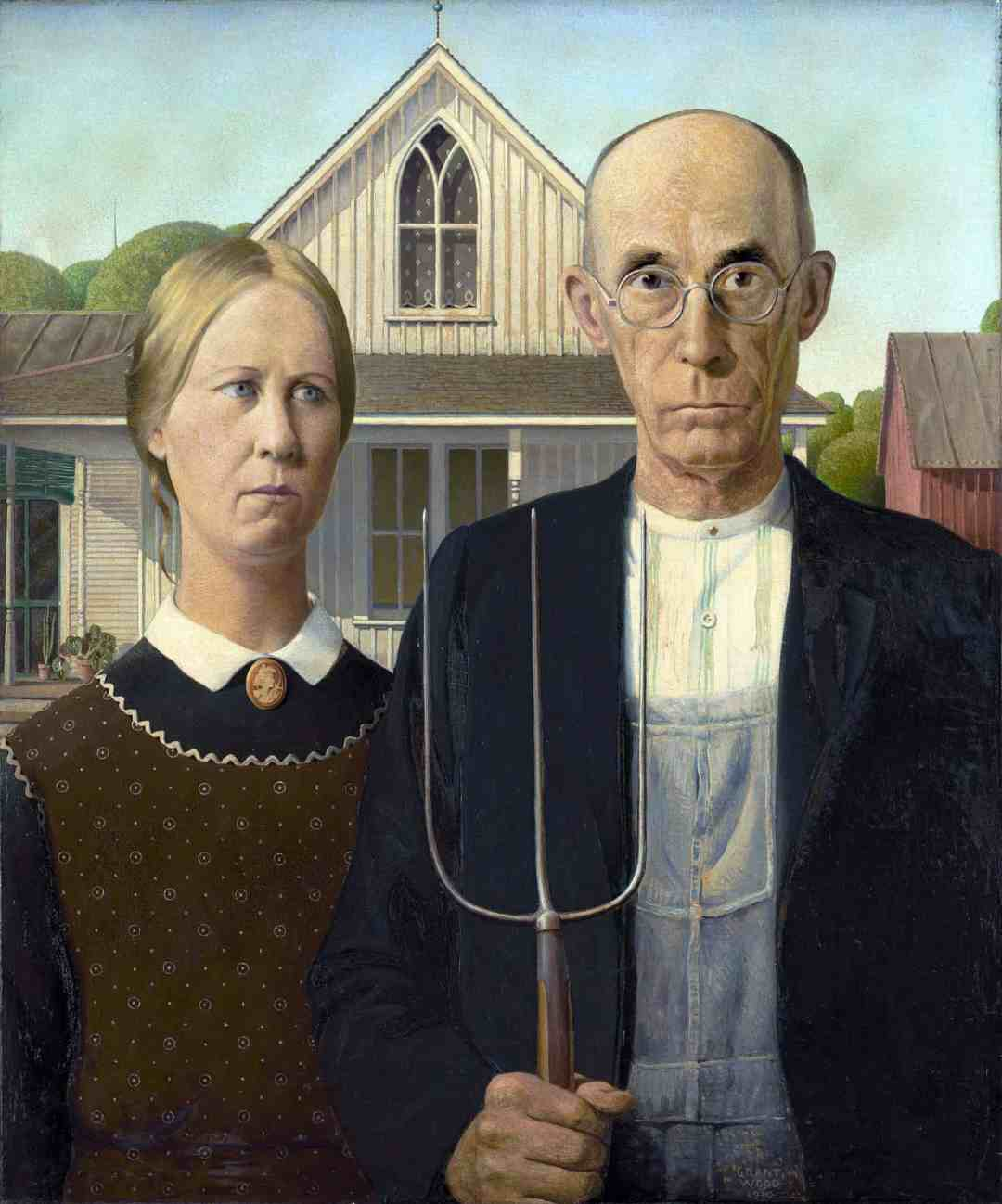 Grant Wood, American Gothic, 1930The Art Institute of Chicago