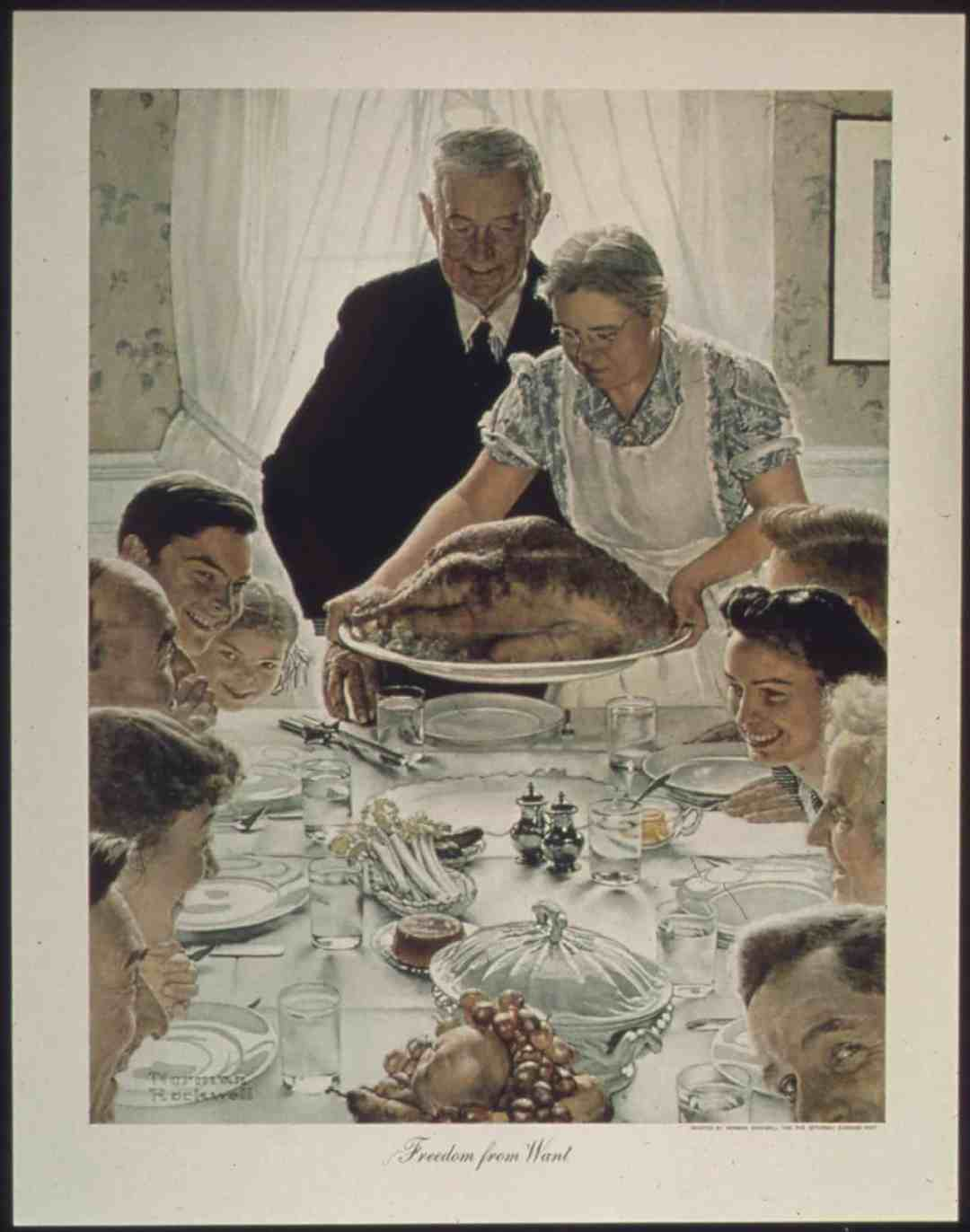 Norman Rockwell, Freedom From Want, 1943Norman Rockwell Museum