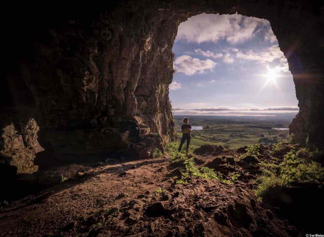 Eniterly hollow aside from the dark, Installation at Kesh Caves, Sligo