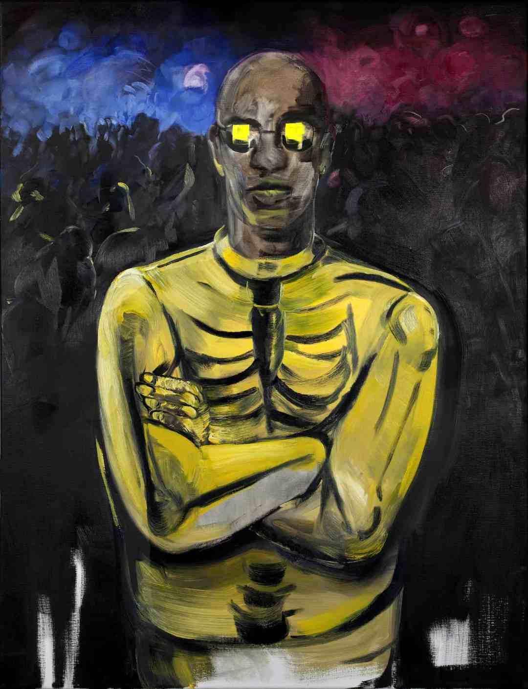 Pola Dwurnik, October, oil on canvas, 116x89cm