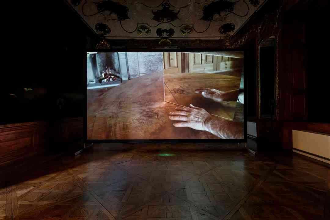 Giorgi Gago Gagoshidze, The Invisible Hand of My Father, 2018, film, installation view, Palais Attems, Graz, photo: Liz Eve