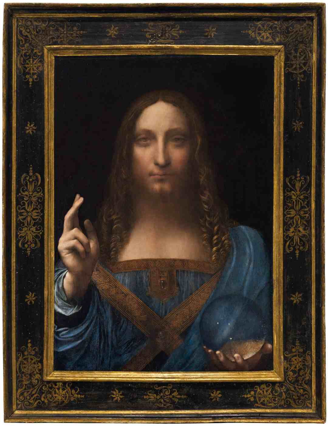"Leonardo da Vinci ""Salvator Mundi"", Oil on walnut, c. 1500"