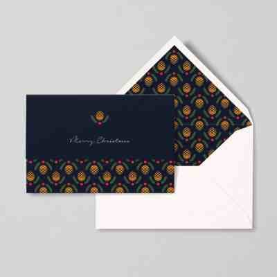 christmas card papear stationary