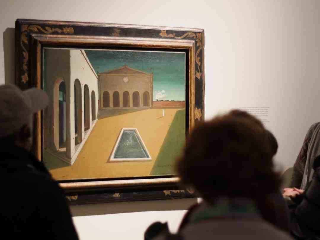 De Chirico:– Metaphysical Painting, influencing Surrealists, and admiration for classicism, Palazzo Reale, Milan, photo by Dobrosława Nowak