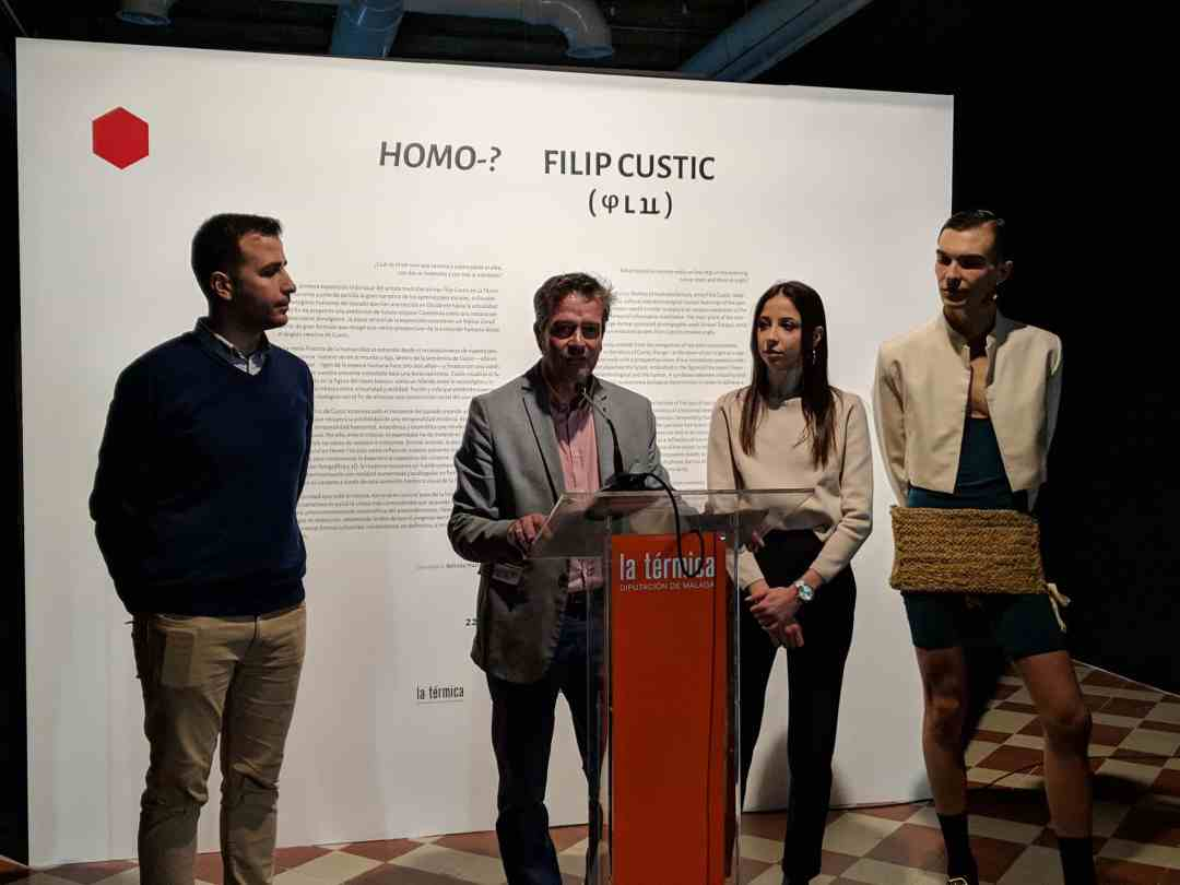 Press conference of Homo?, exhibition, 2019