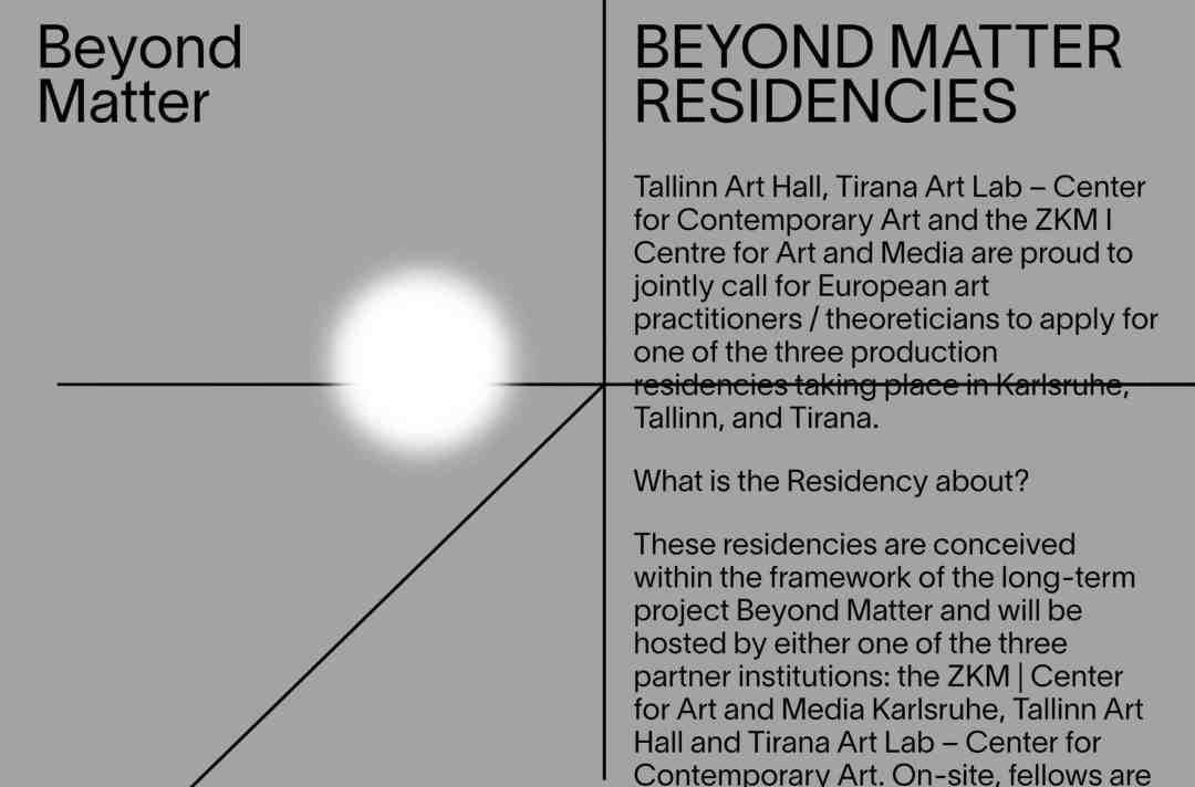 beyond matters residency