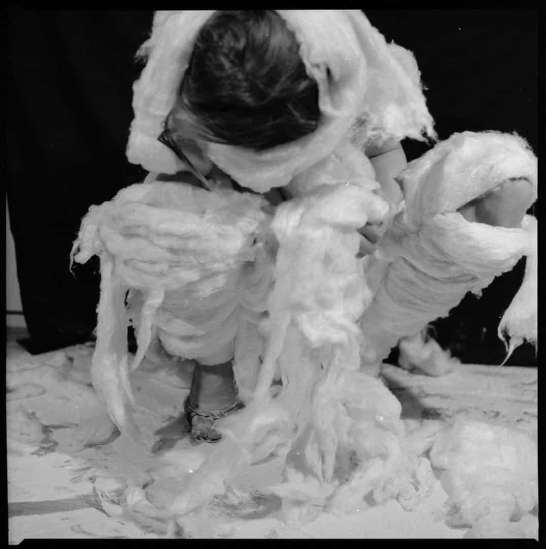 Teresa Tyszkiewicz,Cotton Wool, 1981, black and white photo, courtesy of the artist and Muzeum Sztuki in Łódź