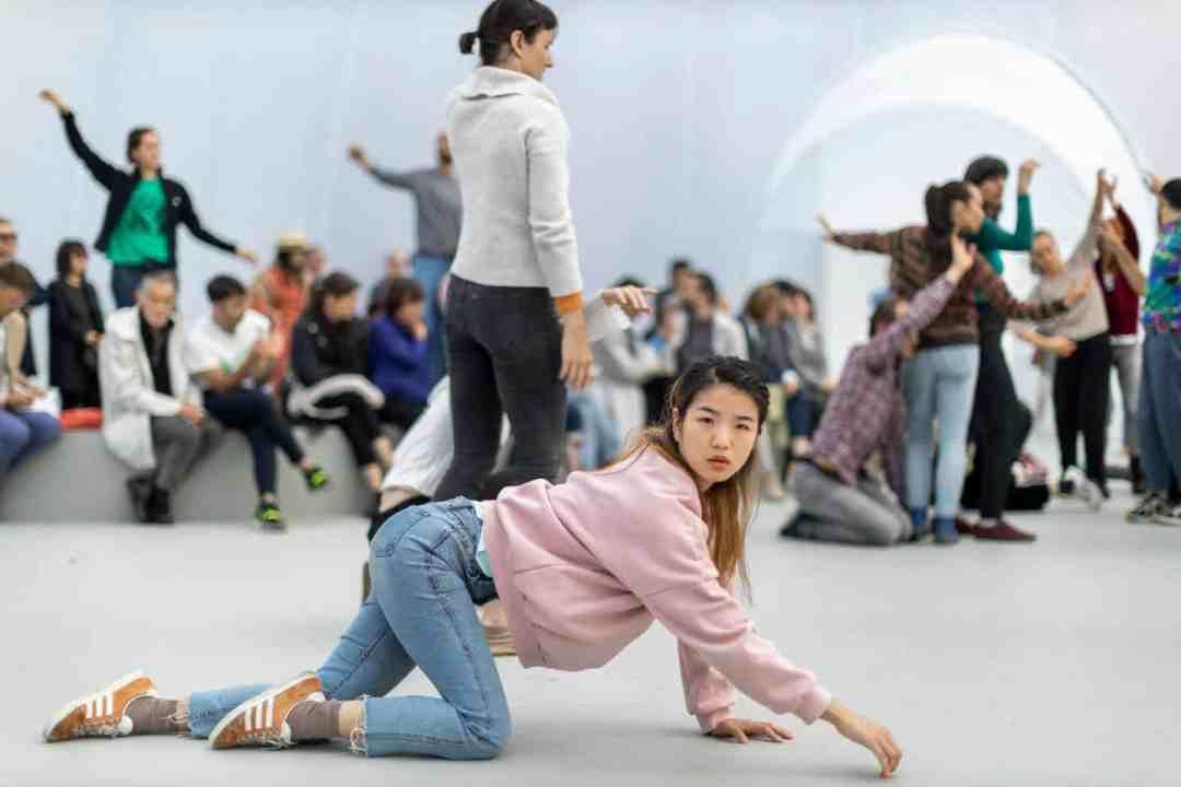 Alexandra Pirici, Aggregate, 2019, a performative environment at Art Basel 2019, Image Courtesy: Art Basel