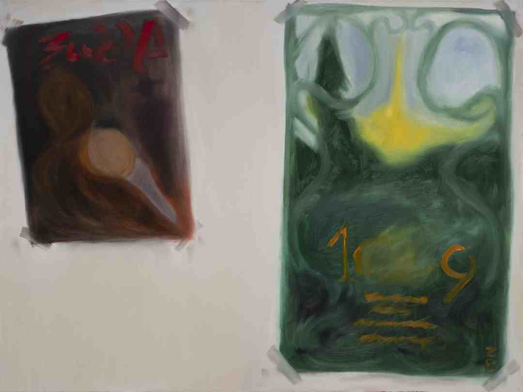 fake posters, oil on linen