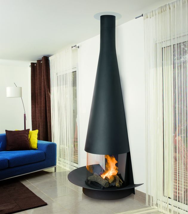Fireplace In French The Latest Models Of Focus Fireplaces By Dominique Imbert