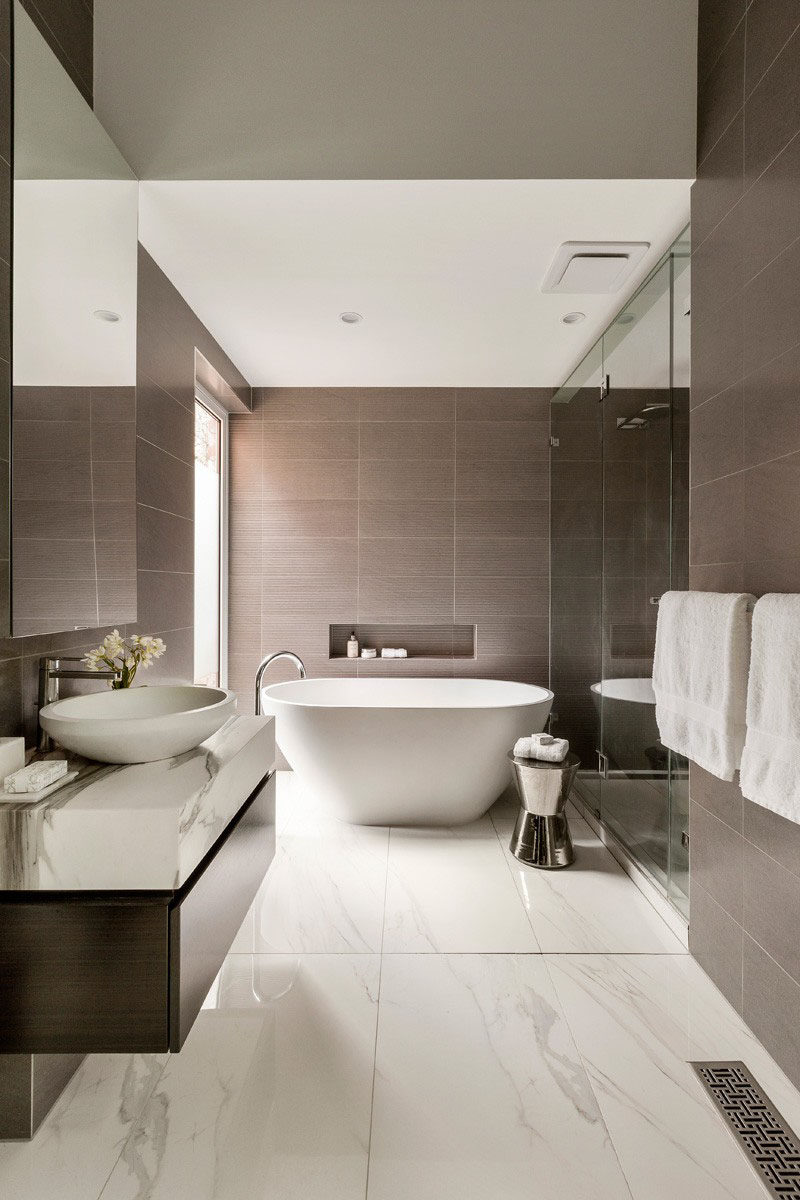 Tile For Bathroom Bathroom Tile Idea Use Large Tiles On The Floor And Walls 18