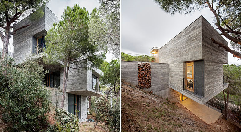 13 Modern House Exteriors Made From Concrete