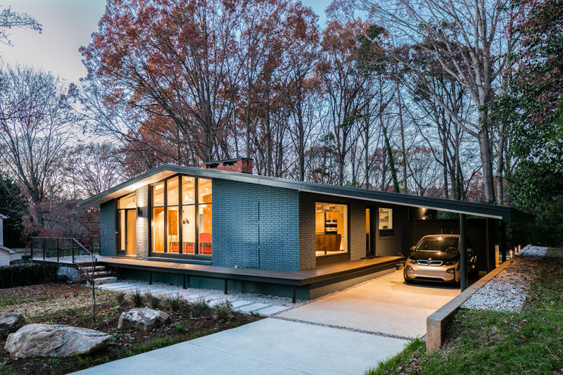 This Mid-Century Modern House In North Carolina Received A