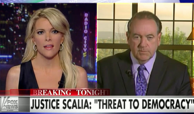"Megyn Kelly Reminds Mike Huckabee That ""Like It Or Not"" Supreme Court Has ""Final Say"""