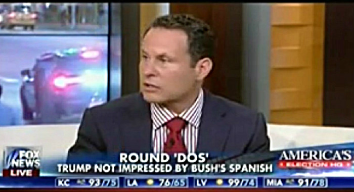 Fox News' Brian Kilmeade: I Agree With Trump That Nobody Should Speak Spanish In America