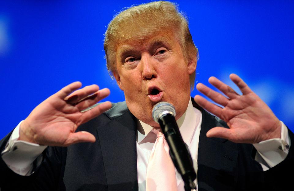 donald trump singing
