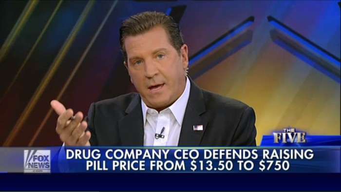 Fox News' Eric Bolling Thinks It's Totally Fine That Martin Shkreli Jacked Up Price Of AIDS Drug