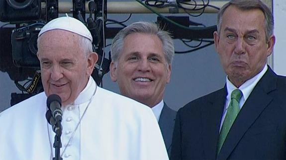 John Boehner Wept Like A Little Baby While Standing Next To Pope Francis